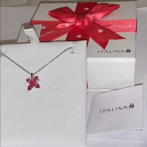 Jewelry - Italina Pink Butterflies Necklace